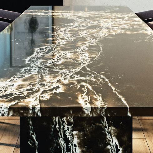 Ice Max Black Quartz Table