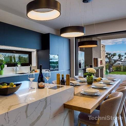 Technistone Quartz Kitchen Worktop Calacatta
